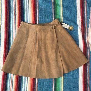 Dresses & Skirts - Genuine Leather skirt with Gold Belt attached